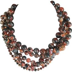 Rare Paloma Picasso for Tiffany & Co 5 Strand Agate Necklace