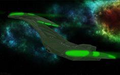 Romulan Bird of Prey circa 2151 by jaguarry3.deviantart.com on @DeviantArt