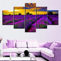 5 Panel Modern field of lavender flowers widescreen Painting Canvas Prints Wall Art Picture For Living Room Decorations UnFramed Painting Room Tips, Types Of Painting, Room Paint, Painting Canvas, Living Room Pictures, Wall Art Pictures, Naruto Painting, Paintings Tumblr, Lavender Flowers