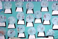 Winter Bulletin Board Idea Snow Globe Writing Activity.