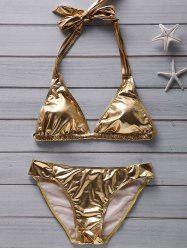 SHARE & Get it FREE | Fashionable Women's Halter Beach Gold  Metallic…