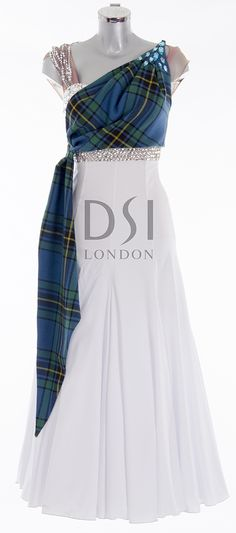 As worn by Judy Murray on Strictly Come Dancing 2014. Designed by Vicky Gill and produced by DSI London