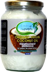 Edible Haven Virgin Coconut Oil is made using fresh coconut or what is called non-copra, fully dry coconut.  It is cold-pressed from 100% organically grown coconuts. It is100% USDA Certified Organic!    check them out! #coconut