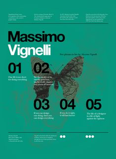 5 Phrases To Live By - Massimo Vignelli