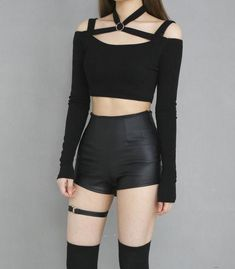 Egirl Fashion, Kpop Fashion Outfits, Girls Fashion Clothes, Stage Outfits, Edgy Outfits, Korean Outfits, Grunge Outfits, Classy Outfits, Pretty Outfits