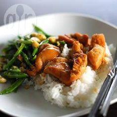 Glazed chicken and green vegetables @ allrecipes.co.uk