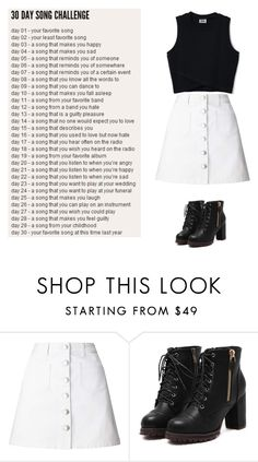"""""""Day 16-What Makes you Beautiful by One Direction *cringes*"""" by lukehemming03 ❤ liked on Polyvore featuring Miss Selfridge"""