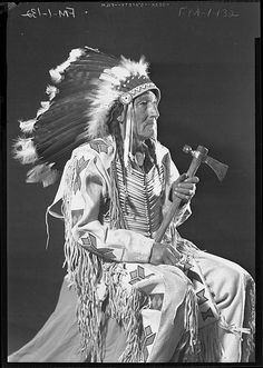 Eagleman, a man of the Chippewa/Cree Tribe, Rocky Boy Reservation, Montana. No date or additional information re: this photo.