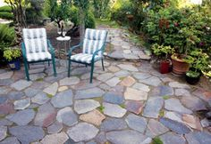 consider placing small stones, pea gravel or beach glass to some of the spaces between stones