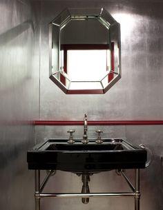 Aluminium Gilded Walls - Rupert Bevan - Interior Finishes - Aluminium Leaf Gilding II