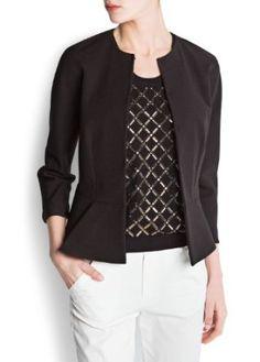 Mango Women's Peplum Jacket, Black, Xs MANGO. $99.99