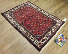 4x5 Persian Ingilas Vintage Hand-Knotted Rug by VintageRugsCarpets