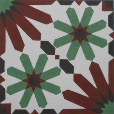 Encaustic Cement Tile A907