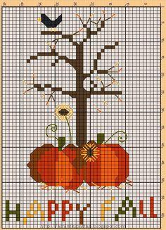 ♥happy fall cross stitch