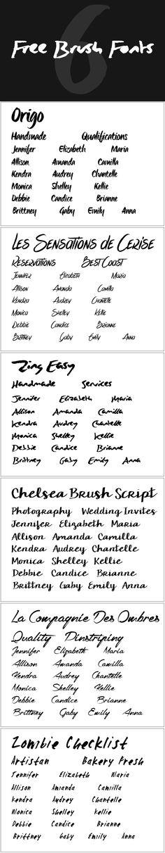6 Free Brush Fonts