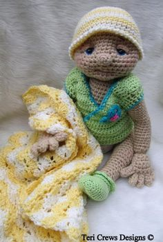 Looking for your next project? You're going to love Huggable Baby Doll Crochet Pattern by designer Crews.