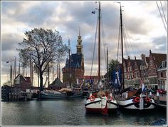 Old harbour in Hoorn, The Netherlands
