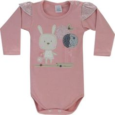 Body Bebê Menina Romântico Rosa Antigo - Patimini :: 764 Kids | Roupa bebê e infantil
