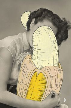 #uniposca #posca on #vintagephoto - #mybeautifuljungle - #diamantebeghetto #love #banana #truelove