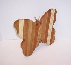 Butterfly Cheese Cutting Board Handcrafted from Mixed