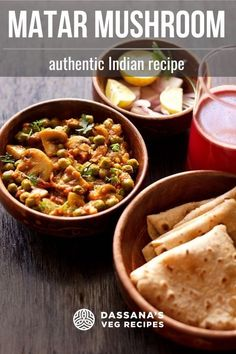 Matar mushroom recipe with step by step photos – a semi-dry delicious vegetable dish made with peas and mushroom. Vegan and gluten-free. Vegetarian Mushroom Recipes, Vegetarian Curry, Curry Recipes, Vegetable Recipes, Mushroom Dish, Mushroom Biryani, Mushroom Curry, Mushroom Gravy, Mushroom Chicken
