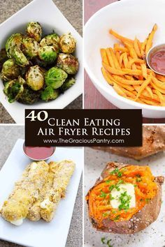 Cook for the entire month in your air fryer with these 40 Clean Eating Air Fryer Recipes!! These healthy recipes will keep your air fryer busy for quite some time to come!