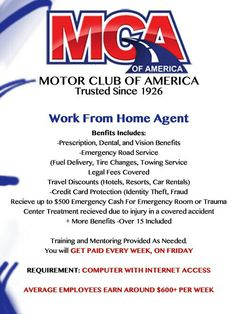 For being a member of MCA they offer you the chance to make an extra income of up to $80 per referral. Join today to start this amazing opportunity.