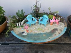 Miami Beach Miniature Fairy Garden