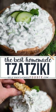 Tzatziki sauce can either be boring and bland or it can be flavorful and delicious. This recipe is so easy to make and tastes incredible! This is the best tzatziki recipe I've ever enjoyed. Nothing I've ever bought at the store even compares. #tzatziki #sauce #dip #cucumber #recipe #easy #best Tzatziki Sauce, Best Tzatziki Recipe, Tzatziki Recipes, Other Recipes, Side Dish Recipes, Side Dishes, Cooking Recipes, Healthy Recipes, Easy Cooking