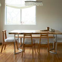 original diseño de mesa de comedor moderna de madera