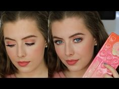 Pink & Peach Spring Makeup Tutorial | Too Faced Sweet Peach Palette | Beauty District - YouTube