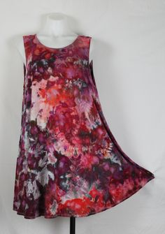 32786bf53 Tie dye sleeveless tunic - size XL - ice dye - Spring Blooms crinkle Find  this