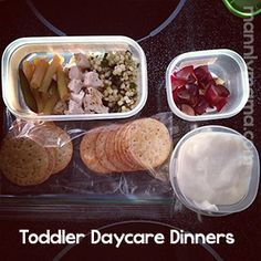 A LOOOOOOONG needed vacation. To add to that lovely break, I am finally getting a break from something on the daycare front. Starting Monday, I no… Baby Meals, Toddler Dinners, Kids Meals, Toddler Daycare, Toddler Food, Meal Plan For Toddlers, Food Program, Grubs, Baby Feeding