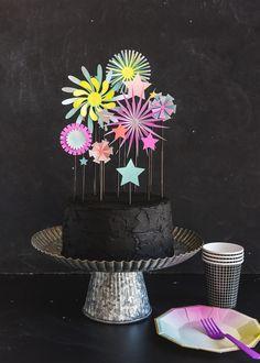 Paper Firework Cake
