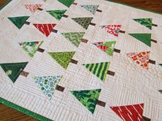 Christmas tree quilt -pattern on The Purl Bee