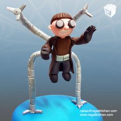 Doctor Octopus Cake Topper | Doc Ock | Spider-Man Villain | by The Regali Kitchen