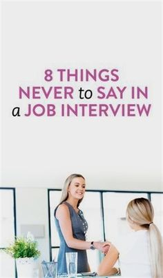 While knowing what good things to say an interview is key, knowing what not to say and what to avoid is just as important. Here are 8 things NEVER to say in a job interview. Interview Answers, Interview Skills, Job Interview Questions, Job Interview Tips, Job Interviews, Interview Clothes, Job Interview Preparation, Interview Techniques, Teacher Interviews