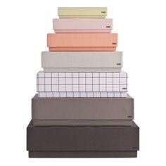 Hay oppbevaringsbokser Box Desktop Female 7stk | Ting Jentefargene! Har guttefargene :D