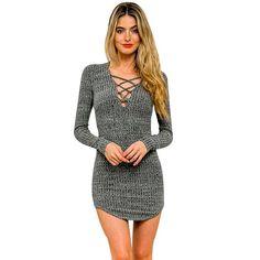 JECKSION Elasticity Cotton Sexy Dress