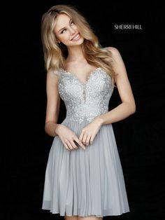 Sparkle Lace 2017 Sherri Hill Homecoming Gown. Available at Bridal and Formal's Club Dress Cincinnati OH @bfclubdress (513)821-6622