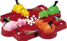 Hungry Hungry Hippos- Only thing that sucked with this was that you would often loose all the marbles.