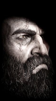 Kratos face God of war Kratos God Of War, Son Of Zeus, War Tattoo, Gaming Wallpapers, Fan Art, Black And White, Pictures, Photography, Beautiful