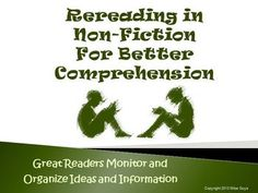 Rereading for Better Comprehension Reading Strategy PowerPoint $