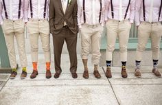 Vintage Ideas: We love the suspenders as a perfect vintage touch to your groomsmen's look! Photographed by Amy Steed Photography via Wedding Chicks