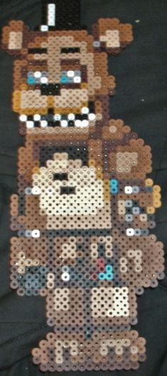 Withered Freddy by Pumpkin-King-Zak.deviantart.com on @DeviantArt Fnaf freddy hama / perler bead