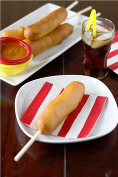 Corn Dogs What you'll need: 1 1/2 cups whole milk 2 eggs – beaten 1/4 cup vegetable oil 1 teaspoon salt 2 tablespoons sugar 1 1/2 cup all purpose flour {plus additional for dredging} 1 cup cornmeal 2 teaspoons baking powder hot dogs {of choice} vegetable oil – enough to fry