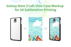 Galaxy Note 3 2d Left Case Mockup by VecRas on @creativemarket