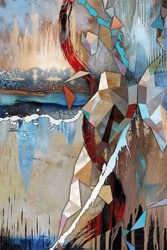"""Motion Art Figure Painting - Artist Tim Parker """"Melting Ice Motion"""" Abstract Figurative Artwork Print Artwork changes as you move around the painting Wipa Woman Artist Painting, Figure Painting, Painting Prints, Artwork Prints, Abstract Canvas, Abstract Oil, Inspiration Artistique, Contemporary Art, Modern Art"""