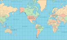 World Atlas - World Geography and Maps #europe #continents #north_america #africa #world_atlas #atlas #South_America #maps