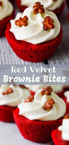 Velvet Brownie Bites are delicious mini desserts perfect for the holidays. Red Velvet Brownie Bites are delicious mini desserts perfect for the holidays., Red Velvet Brownie Bites are delicious mini desserts perfect for the holidays. Finger Desserts, Mini Desserts, Mini Dessert Recipes, Bite Size Desserts, Small Desserts, Christmas Desserts, Christmas Baking, Easy Desserts, Belgian Desserts